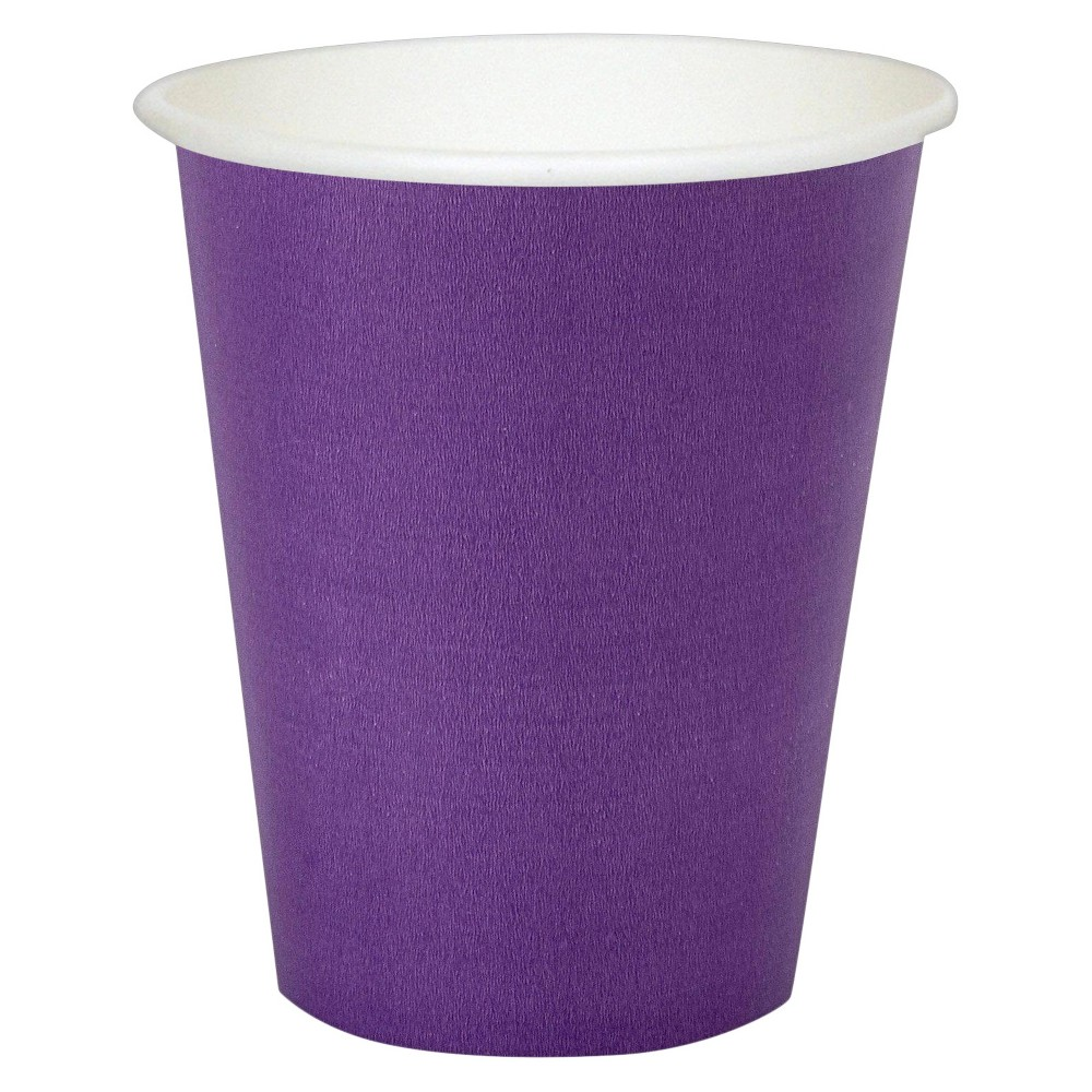 24ct 9 Oz. Cups - Purple, Disposable Drinkware