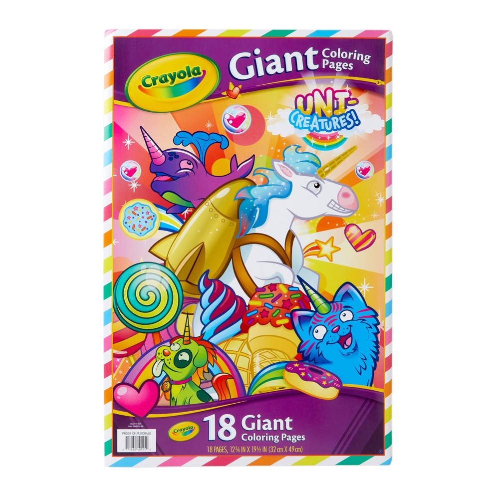 Image of Crayola 18pg Uni-Creatures Giant Coloring Pages