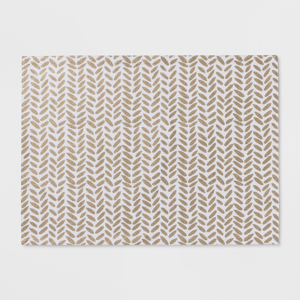 """Image of """"19""""""""x14"""""""" Chevron Placemat White - Project 62"""""""