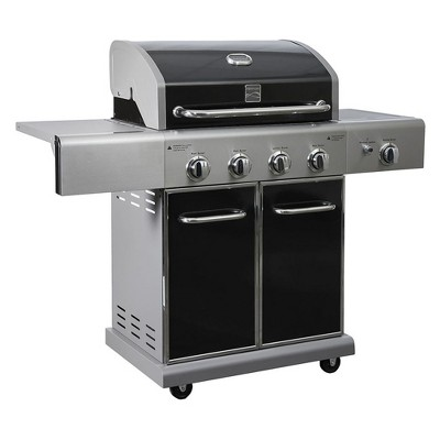 Kenmore 4 Burner Gas Grill with Side Searing Burner - PG40409S0 - Black