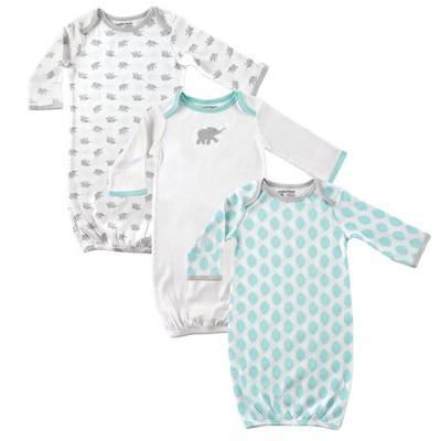 Luvable Friends Baby Unisex Cotton Gowns, Elephant, 0-6 Months