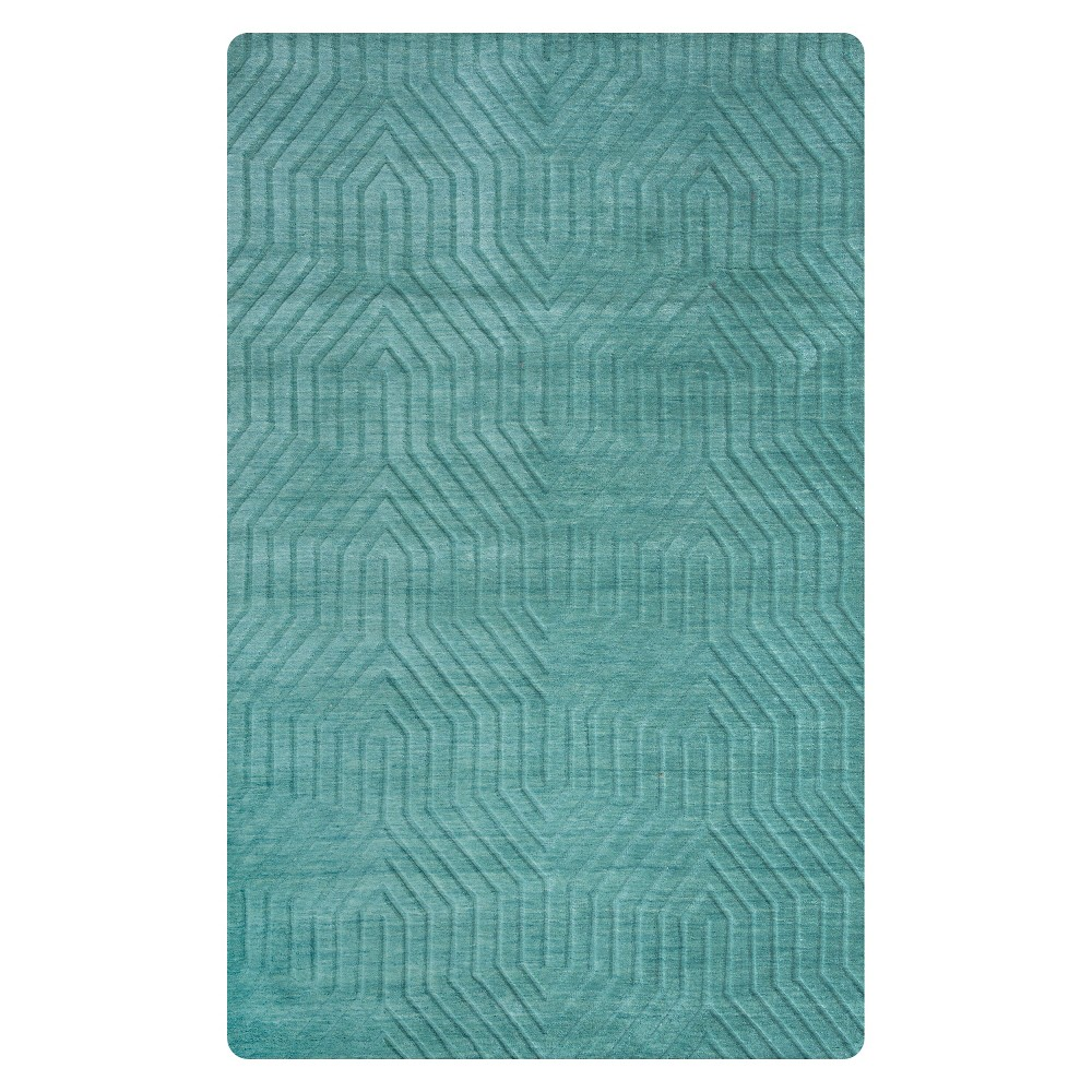 Image of 8'X10' Solid Area Rug Blue - Rizzy Home