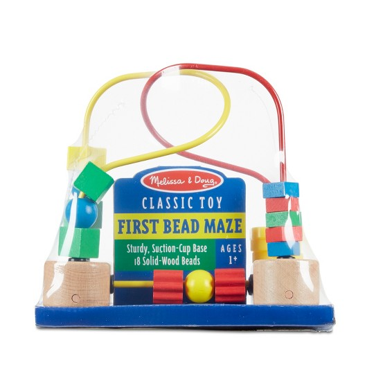 Melissa & Doug First Bead Maze - Wooden Educational Toy image number null