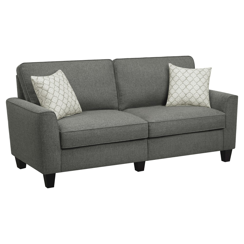 Serta Rta Astoria Collection 73 Sofa in Steel Bridge Gray, CR46235P