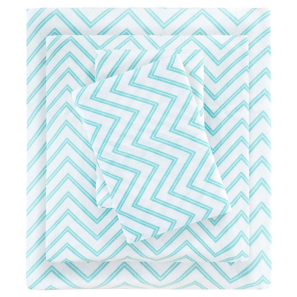 Queen Cotton Blend Jersey Knit All Season Sheet Set Blue ...