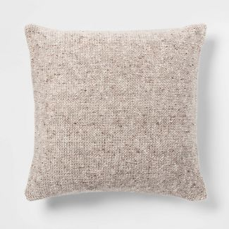 Marled Sweaterknit Oversize Square Pillow Neutral - Threshold™