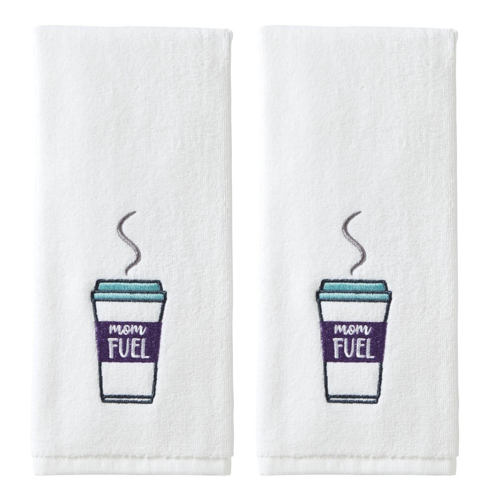 Image of 2pc Mom Fuel Hand Towel Set White - SKL Home
