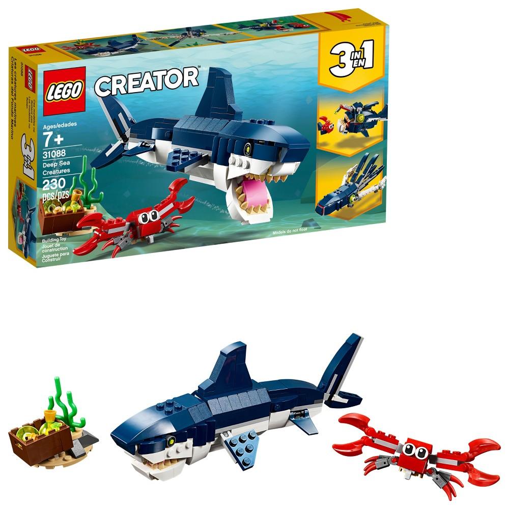 LEGO Creator Deep Sea Creatures Building Kit Sea Animal Toys for Kids...