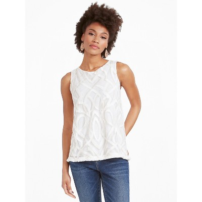 NIC+ZOE Women's Motions Tank White Multi