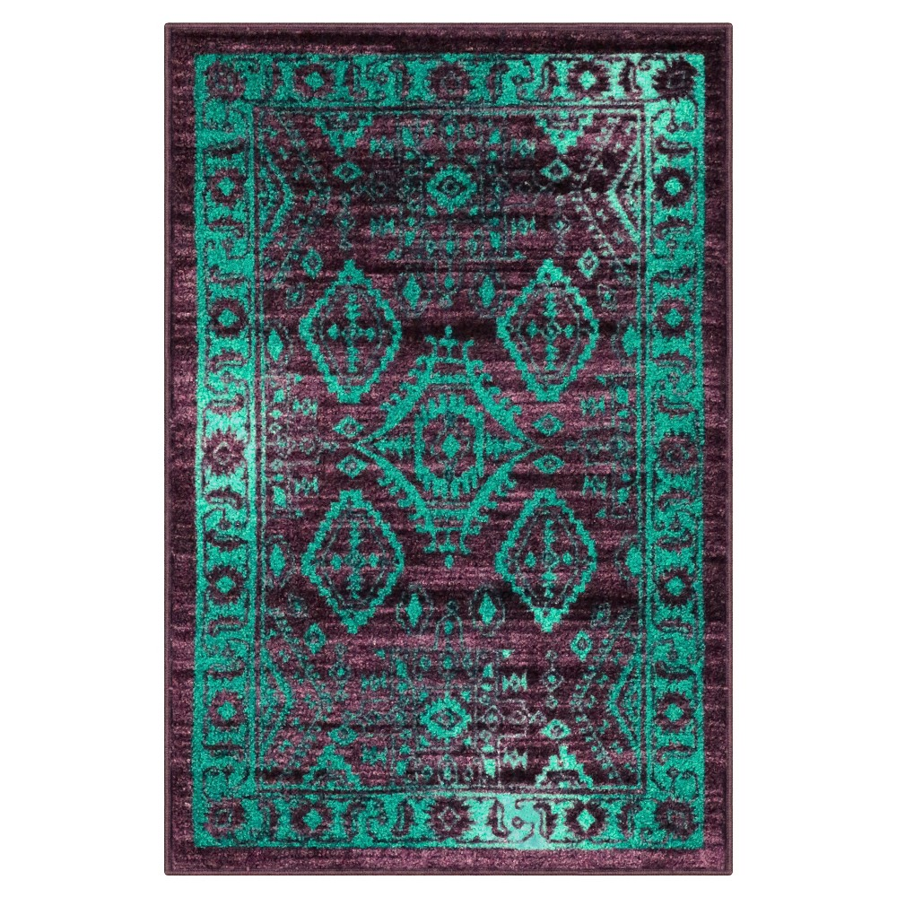 "Image of ""2'6""""X3'10"""" Tribal Design Tufted Accent Rug Purple - Maples, Size: 2'6""""X3'10"""""""