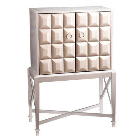 Glam Prospect Bar Cabinet - Metallic Silver - Aiden Lane - image 1 of 9