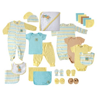 Luvable Friends Baby 24-Piece Deluxe Gift Set Giraffe- Yellow 0-6M