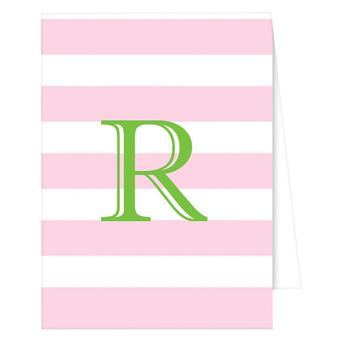 """R"" Monogram Cabana Stripe Collections Light Pink - image 1 of 1"
