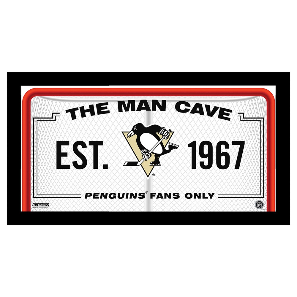 SS 10x20 Man Cave Signs Pittsburgh Penguins