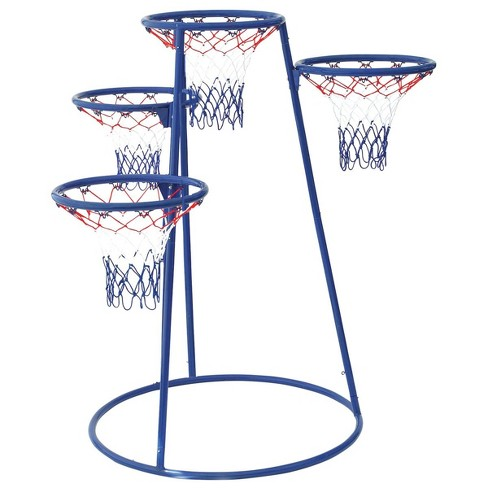 Children's Factory 4 Ring Basketball Stand With Storage Bag - image 1 of 4
