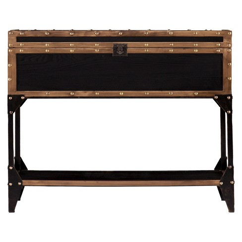 Mason Trunk Console - Metal/Brown - Aiden Lane - image 1 of 3