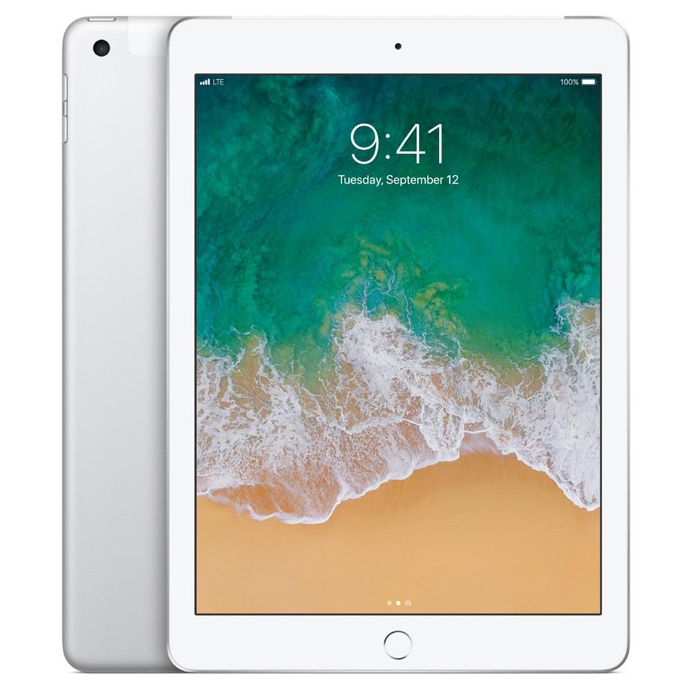 Apple iPad 128GB Wi-Fi + Cellular (2017 Model, 5th Generation, MP2E2LL/A) - Silver, Black