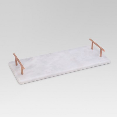 Rectangle Marble Serving Tray - White - Project 62™