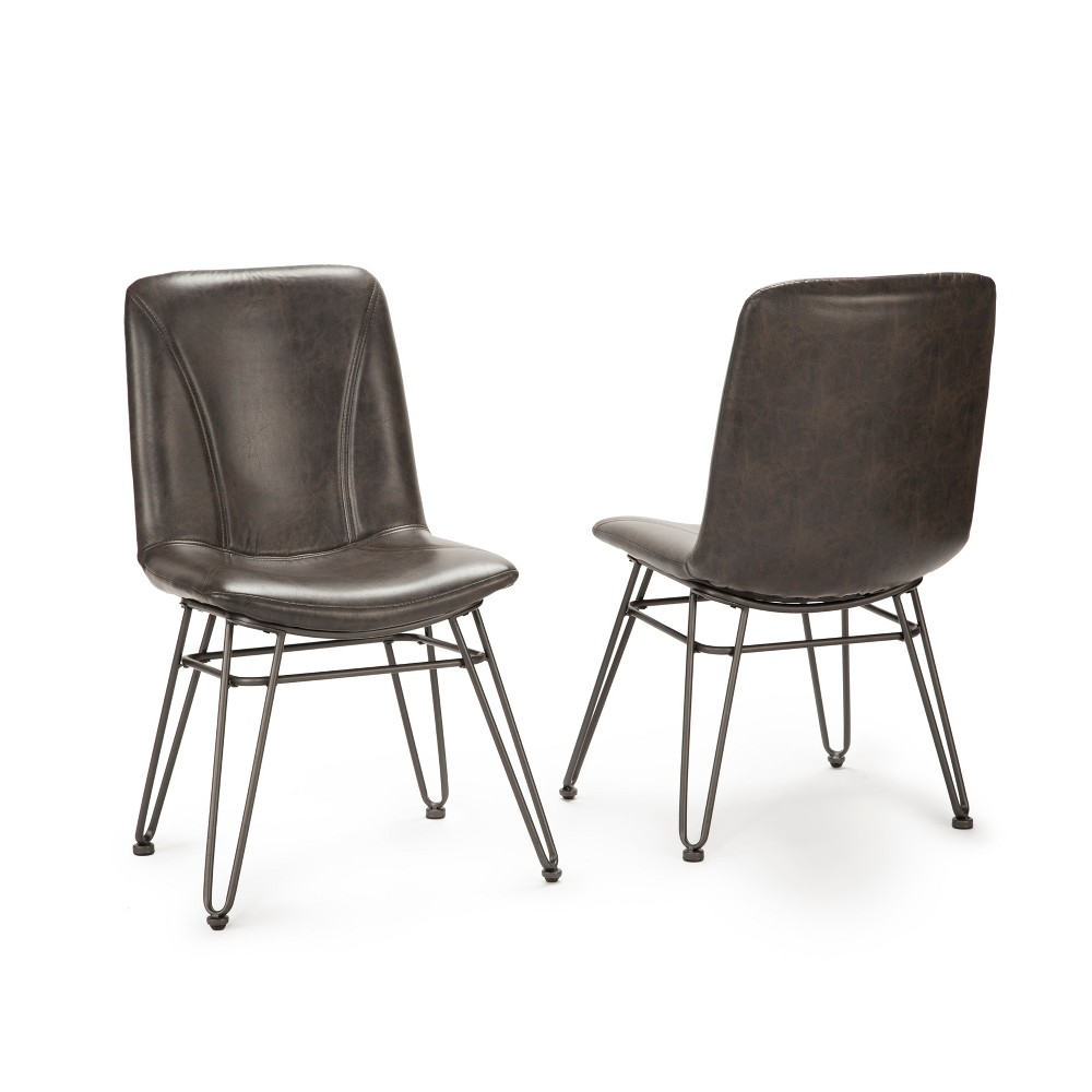 18 Derek Side Chair Set of 2 Gray/Black - Steve Silver