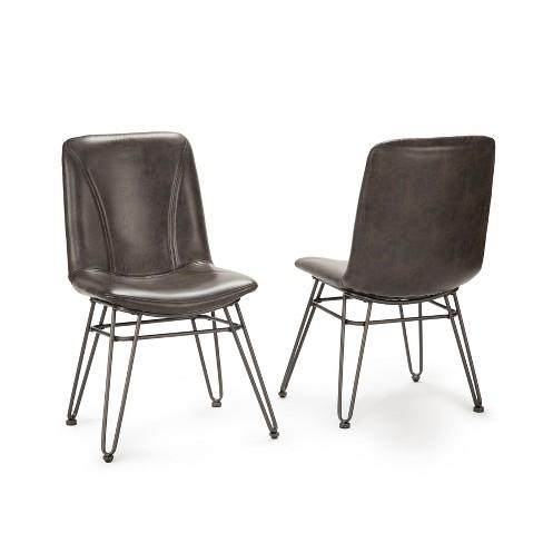 "18"" Derek Side Chair Set of 2 Gray/Black - Steve Silver - image 1 of 3"
