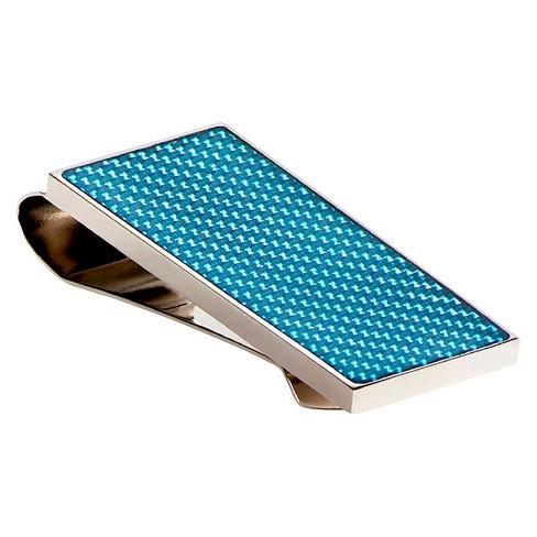 wrkin stiffs - Men's Carbon Fiber Money Clip Blue - image 1 of 1