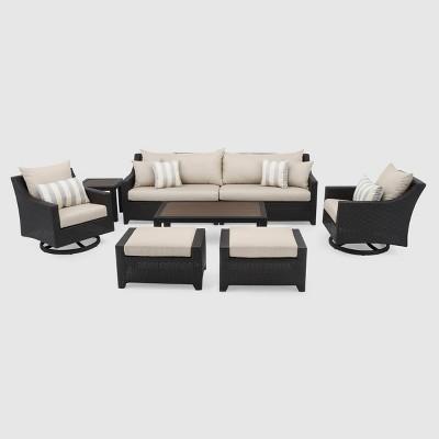Deco 7pc Sofa & Motion Club Chair Set - Slate Gray - RST Brands