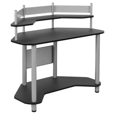 Laminate Corner Computer Desk with Hutch - Calico Designs
