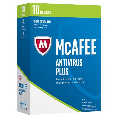 McAfee 2017 Antivirus Plus - 10 Devices - image 1 of 1