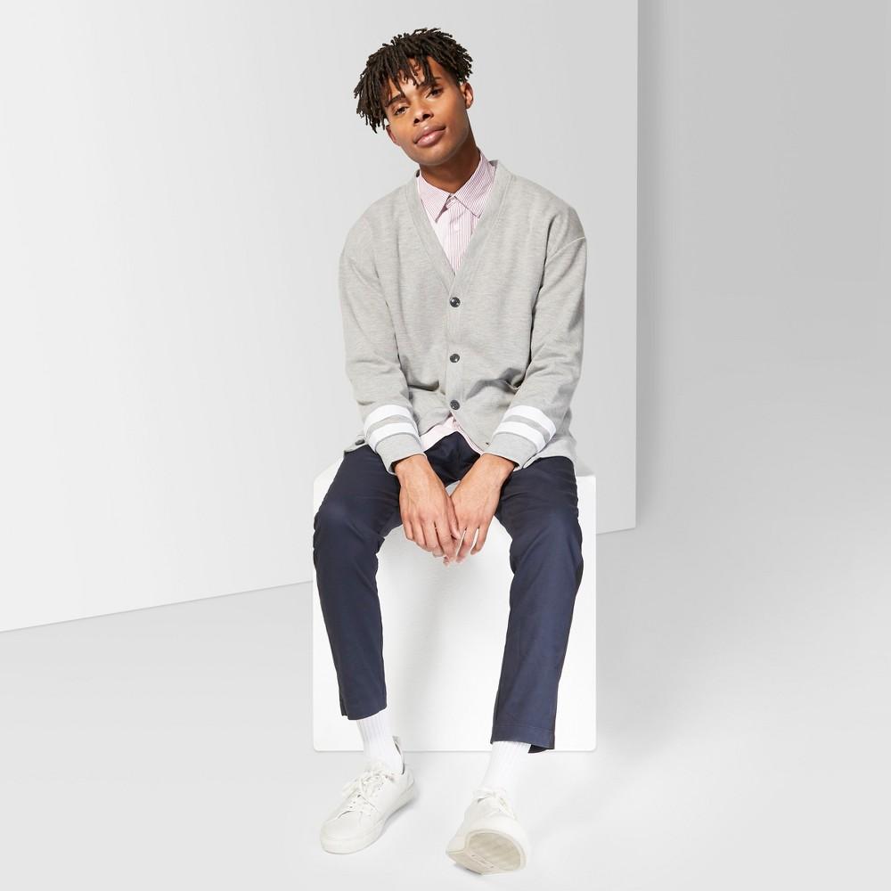 Men's Long Sleeve Oversized V-Neck Cardigan - Original Use Folkstone Gray XS
