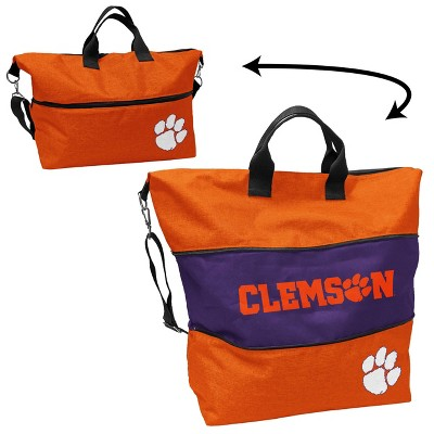 NCAA Clemson Tigers Crosshatch Expandable Tote
