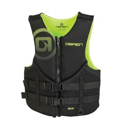 OBrien Biolite Series Traditional Mens Neoprene Life Vest Size M, Black/Green