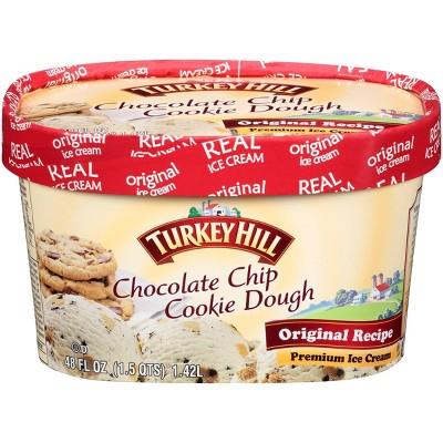 Turkey Hill Chocolate Chip Cookie Dough Ice Cream - 48oz