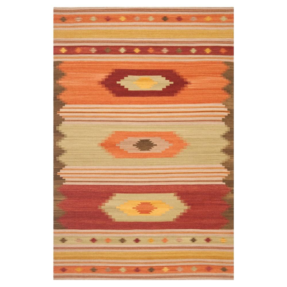 Kilim Rug - Brown- (5'x8') - Safavieh, Brown