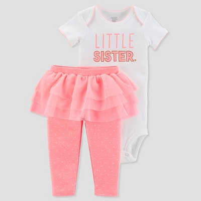 Baby Girls' 2pc Little Sister Tutu Set - Just One You® made by carter's Pink 9M