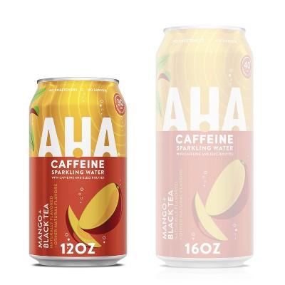 AHA Mango Black Tea Sparkling Water - 8pk/12 fl oz Cans