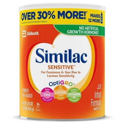 Similac Sensitive For Fussiness and Gas Infant Formula with Iron Powder - 29.8oz