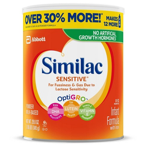 Similac Sensitive For Fussiness and Gas Infant Formula with Iron Powder - 29.8oz - image 1 of 4