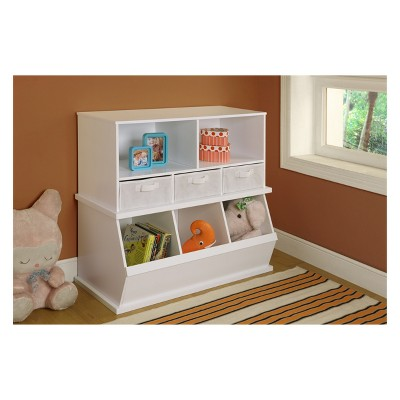 Attrayant Badger Basket Stackable Shelf Storage Cubby With Three Baskets : Target