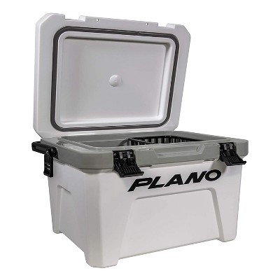 Plano Frost 21 Quart Heavy Duty Beverage Cooler with Built In Bottle Opener and Removable Dry Basket for Camping, Tailgating, Outdoor Events