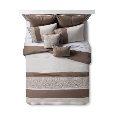 Delfina Crewel Embroidered Comforter Set (Queen)8pc