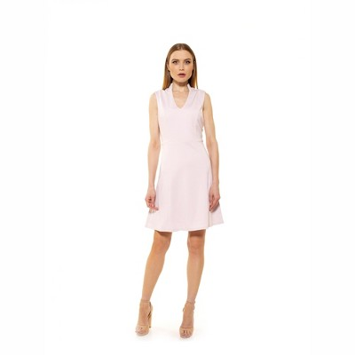 Alexia Admor Adeyln Stretch High Neck Fit And Flare Dress