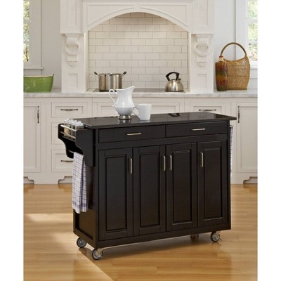 Kitchen Carts And Islands Granite Top Black - Home Styles