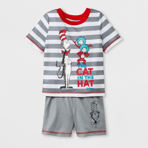 e0eda0731d Toddler Boys  Dr. Seuss Cat In The Hat 2pc Short Sleeve Pajama Set ...