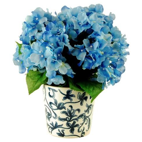 "Artificial Hydrangea Arrangement Blue 14"" - LCG Florals - image 1 of 1"