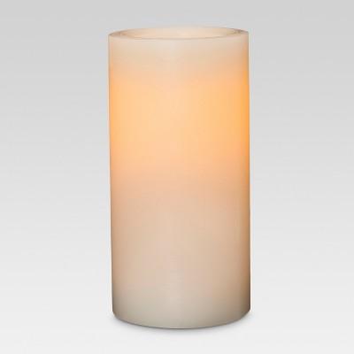 LED Pillar Candle Cream 3 x6  - Threshold™