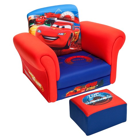 Wondrous Upholstered Chair With Ottoman Disney Pixar Cars Delta Children Alphanode Cool Chair Designs And Ideas Alphanodeonline