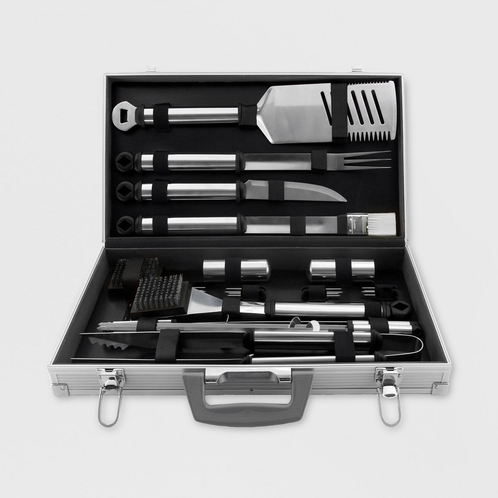 Image of Mr. Bar-B-Q 21 Piece Stainless Steel BBQ Tool Set
