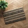 "1'6""X2'6""/18""X30"" Stripe Tufted Doormat Black - Project 62™ - image 3 of 3"