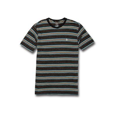 Volcom Boys Moorley Crew Short Sleeve Striped T-Shirt