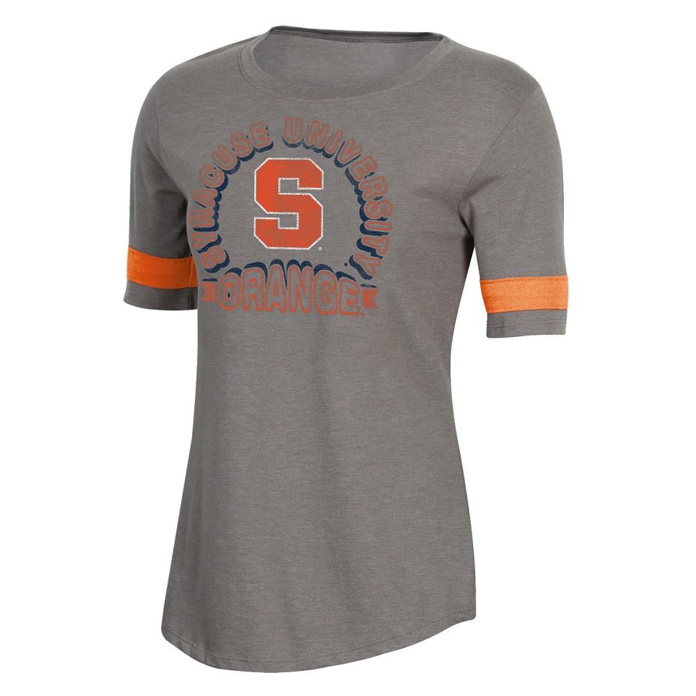 NCAA Women's Short Sleeve Scoop Neck T-Shirt Syracuse Orange - XL, Multicolored